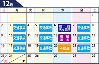 鹿児島県弁護士会無料相談カレンダー12月