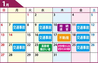 鹿児島県弁護士会無料相談カレンダー1月